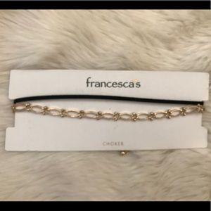 NWT Francesca's choker set